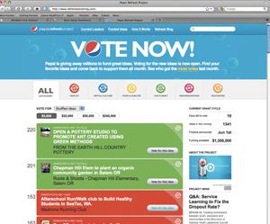 Pepsi Vote Now Platform