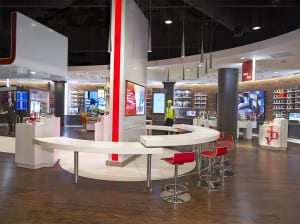 Wireless Workshop: Part learning bar, part communal area and part in-store energy zone, Wireless workshop resembles a cool college class.