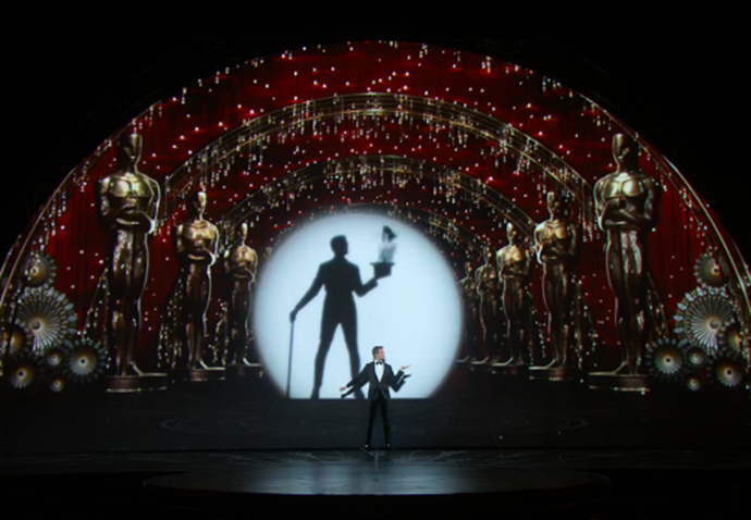 2015 Oscars stage production elements