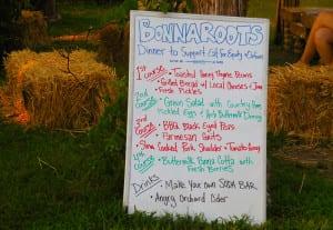 Bonnaroo Tour Dinner Three Course