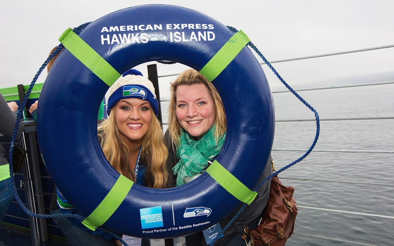 American Express Activates Hawks Island for Seattle Football Fans