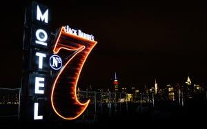 Jack Daniel's Motel 7 Lighted Sign