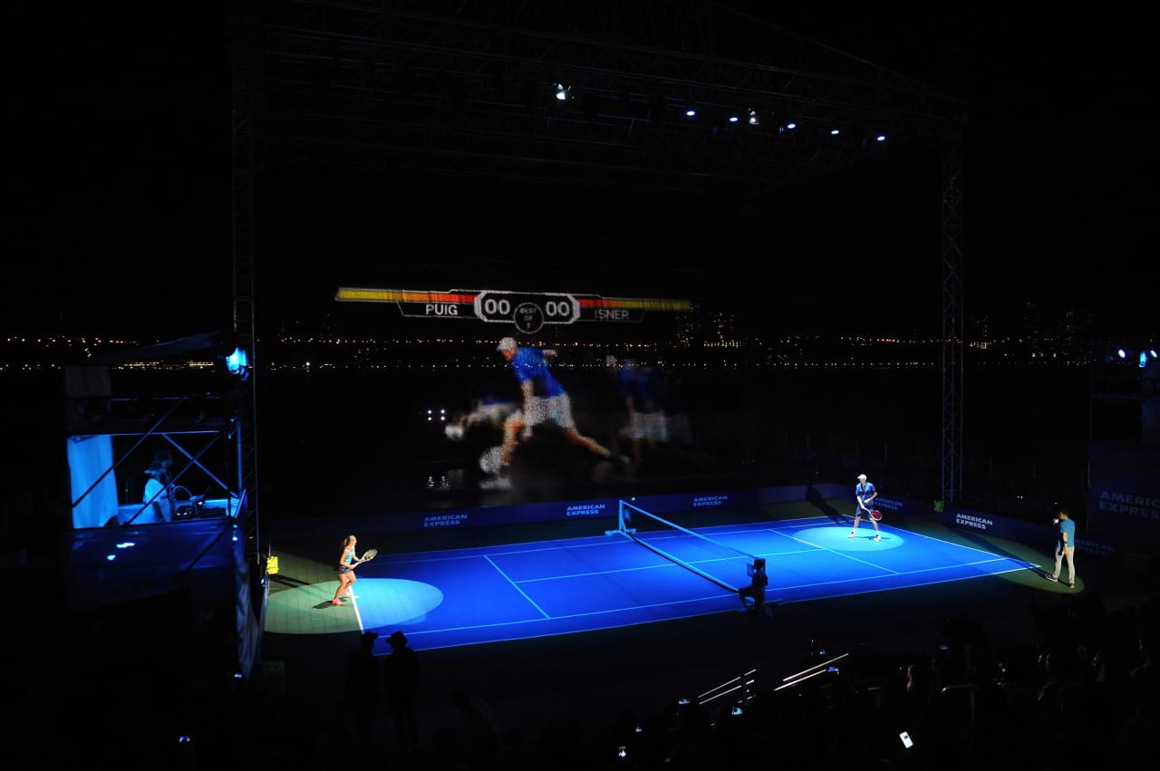 American Express Rally on the River: Inside the First-Ever Hydro-Interactive Tennis Experience