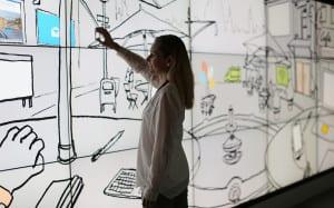 Microsoft Retail Experience Center touchscreen