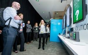 Microsoft Retail Experience Center tour group