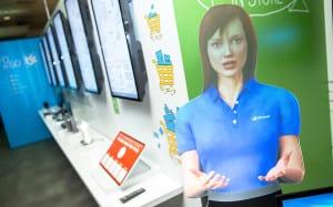 Microsoft Retail Experience Center virtual employee