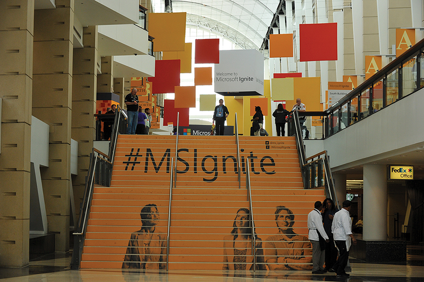 Microsoft Ignite Conference Graphics