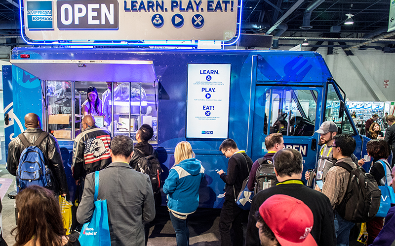 American Express OPEN Food Truck at CES 2016