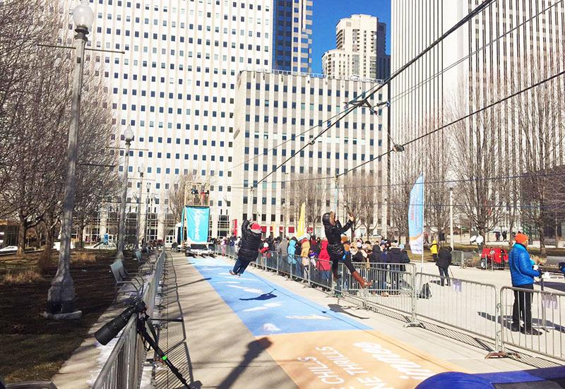 Experience Kissimmee Sends Chicagoans Down a Frigid Zip Line