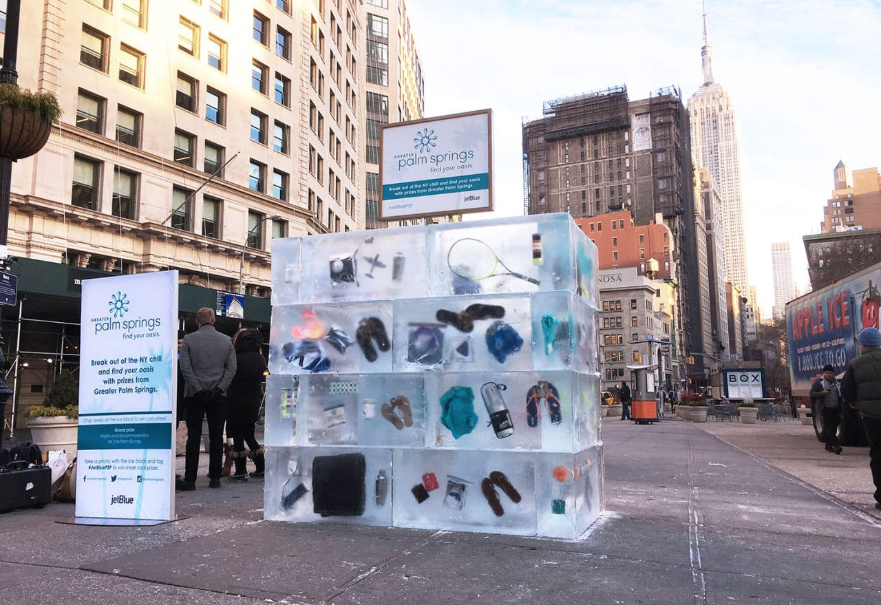 Palm Springs Stages the Ultimate Ice Breaker in New York City
