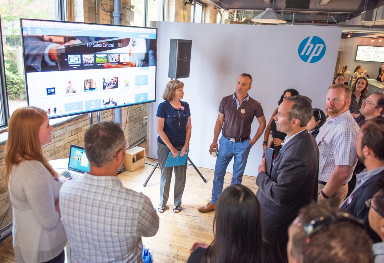 HP Highlights its Print Security Solutions with an '80s-Themed Training Event