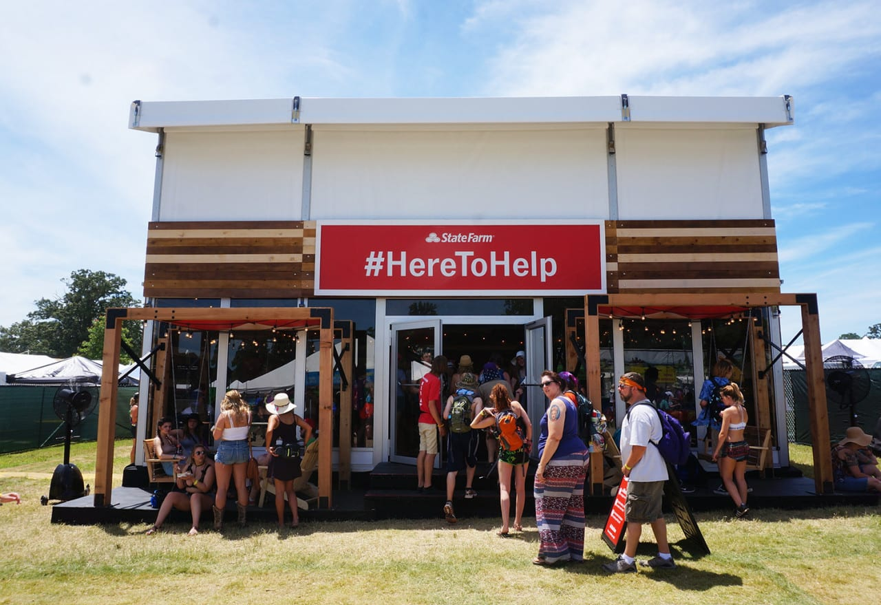 State Farm is 'Here To Help' at Music Festivals