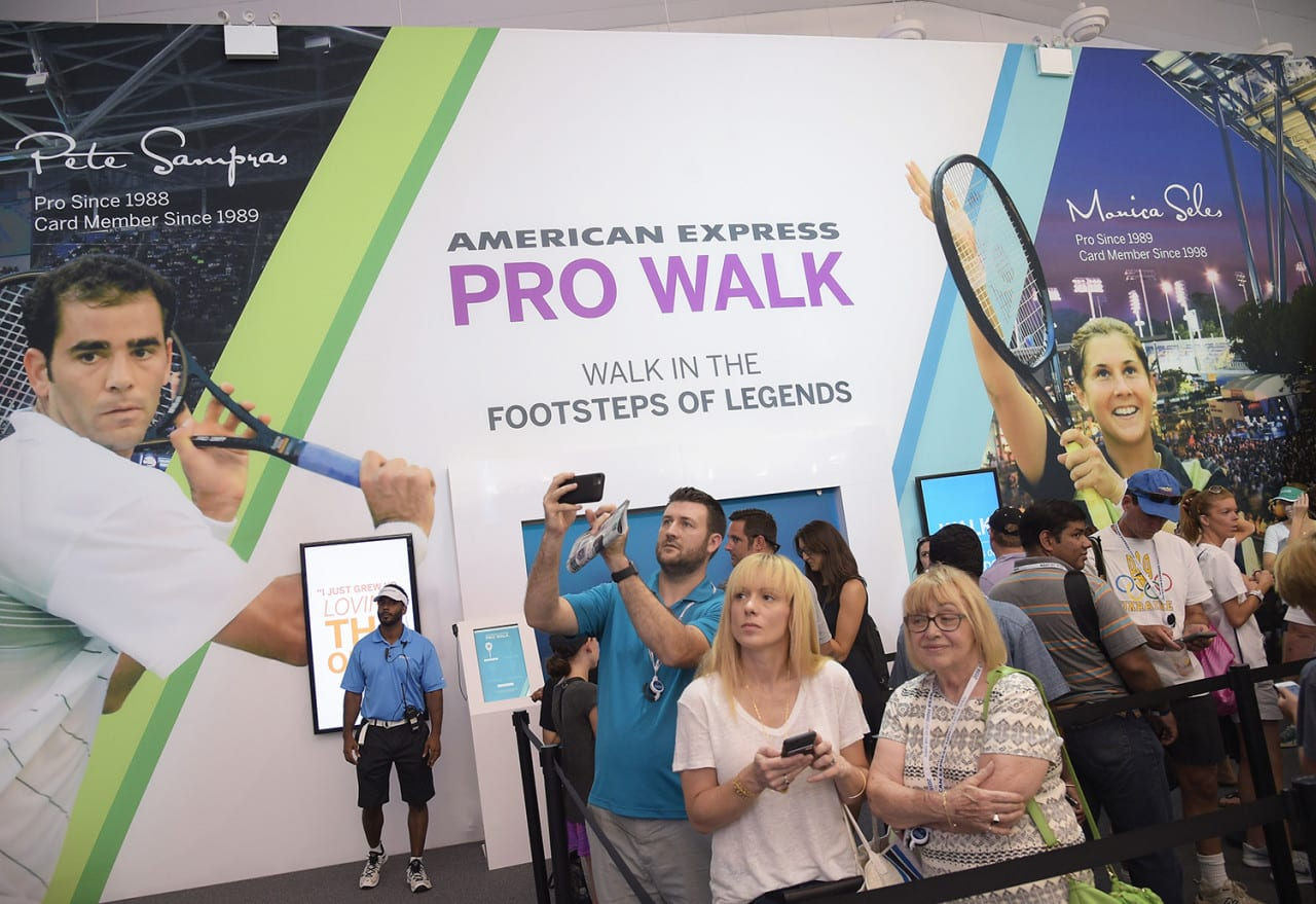 American Express Pro Walk Scores with US Open Fans