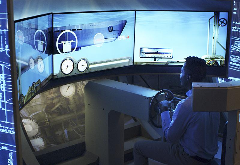 U-505 dive simulation exhibit 1