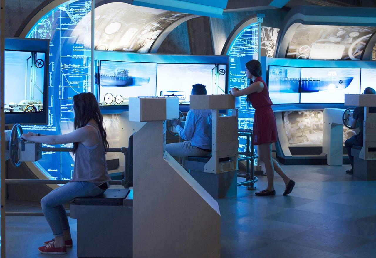 U-505 dive simulation exhibit 2