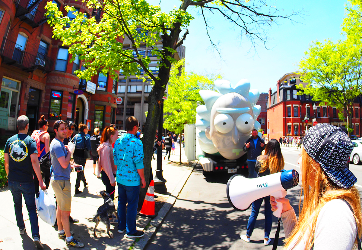 Adult Swim's Eye-Catching Rickmobile is a Traveling Pop-Up Shop