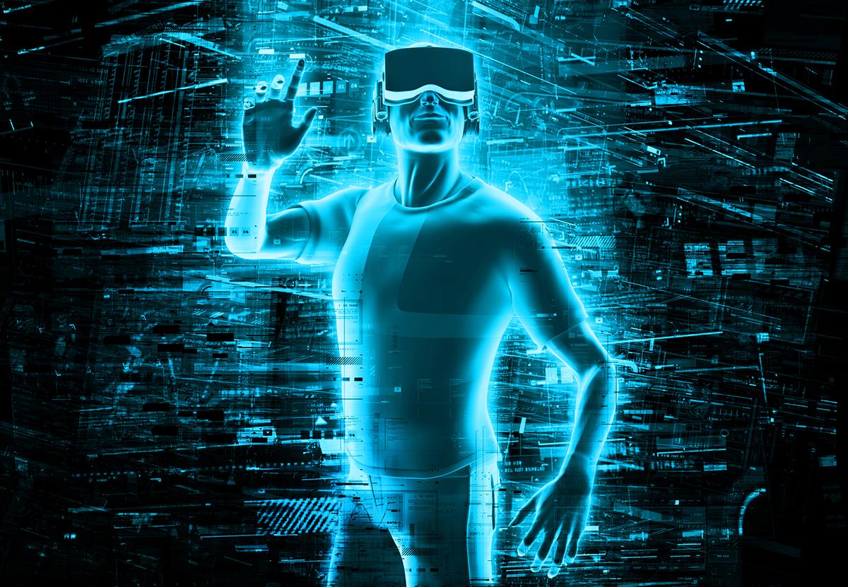virtual reality stock