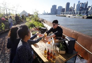 Cider Brand Strongbow Lets Nature Take its Course With a Floating Apple Orchard in New York City