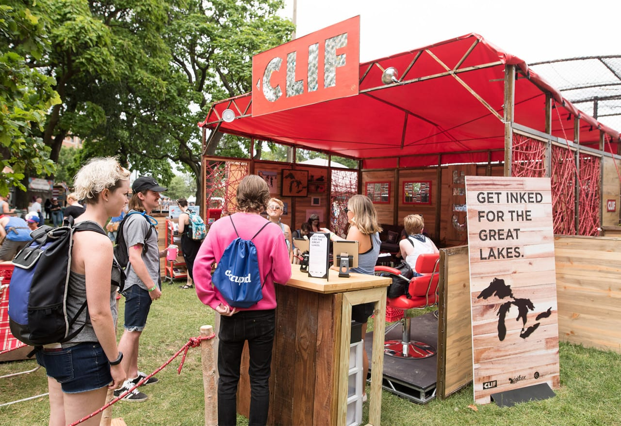 CLIF Bar's Analog Approach Makes Dwell Time Soar at the Pitchfork Music Festival
