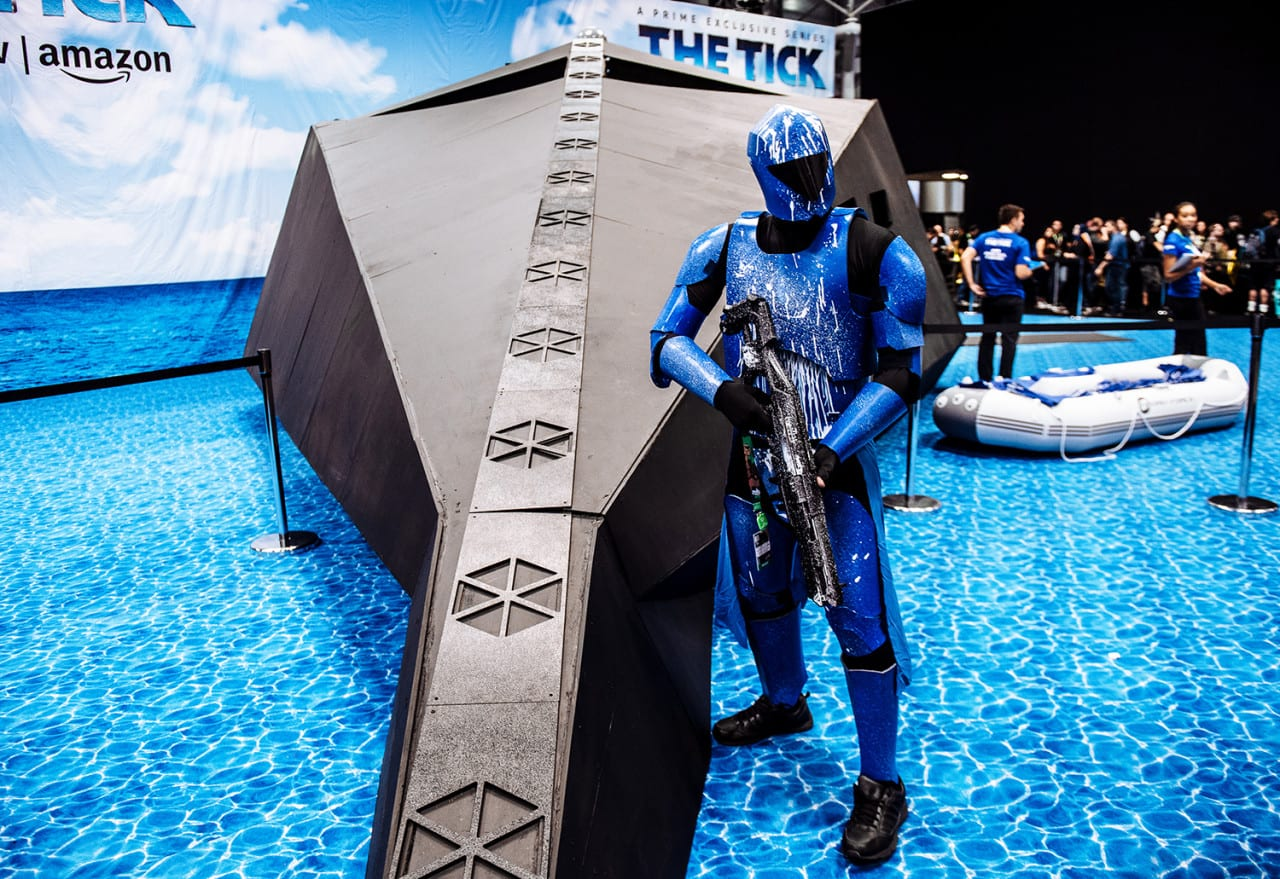 "Fans of Amazon Prime Video's ""The Tick"" Engage With a Sassy, AI-Powered Watercraft at New York Comic-Con"