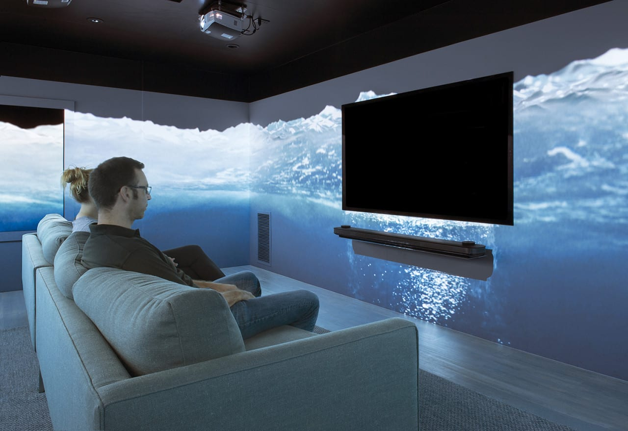 LG's Cinema House Combines Entertainment and Comfort