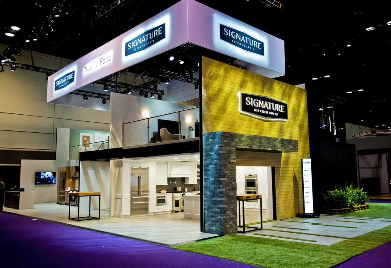 Kitchen & Bath Industry Show: LG Packs Vignettes and Mini Events into a Multi-Level Dwelling