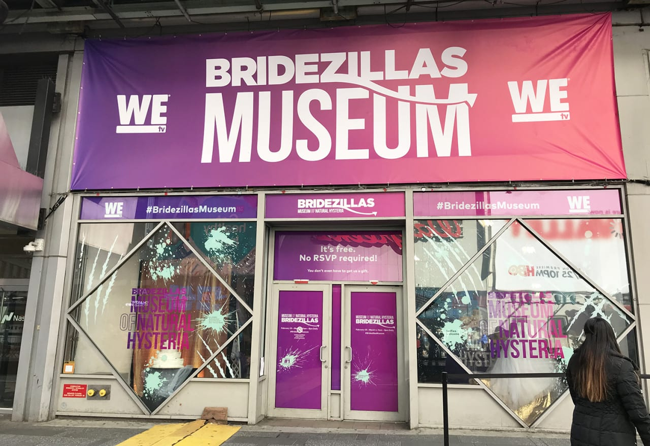 WE tv Embeds Itself Among Times Square Attractions with the 'Bridezillas' Museum