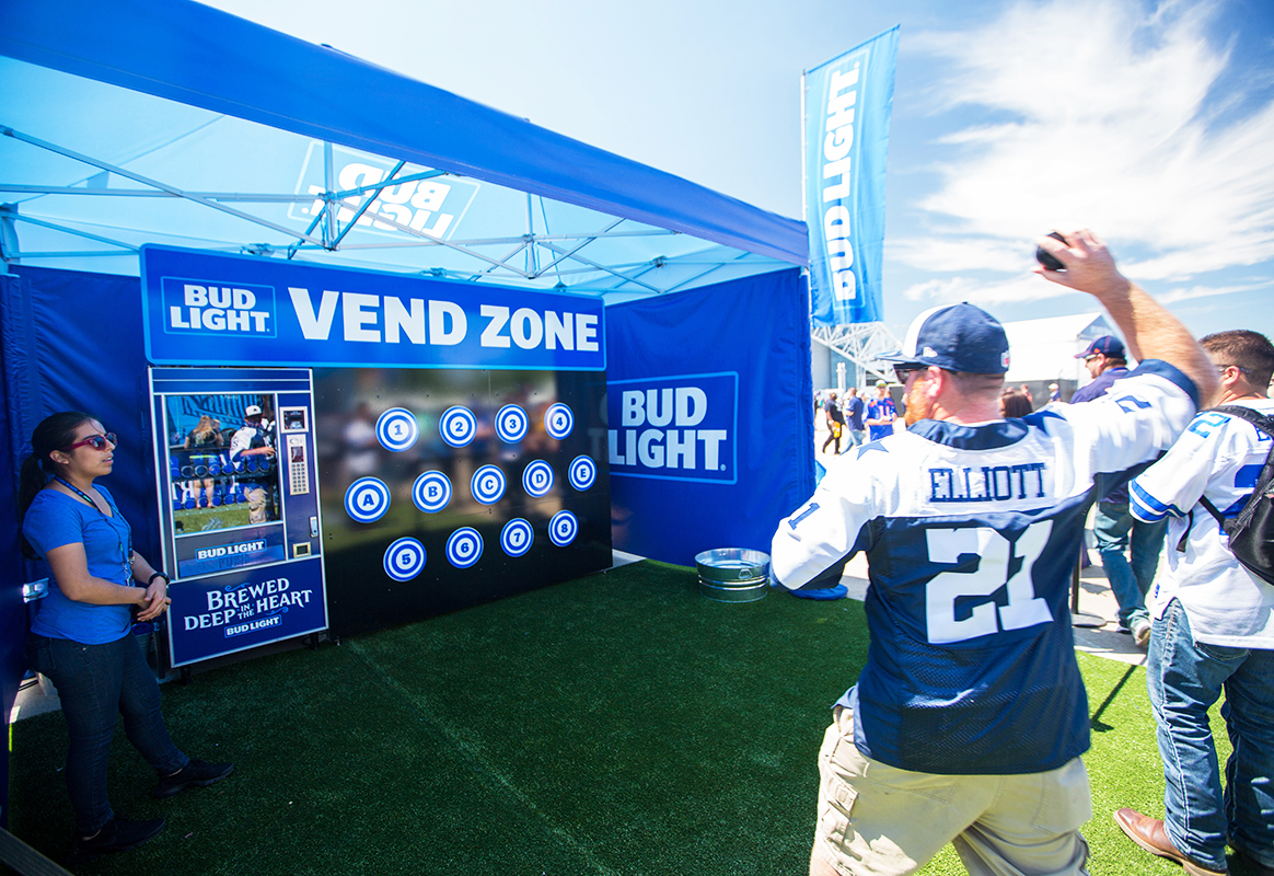 Bud Light Courts Texans With Beers and Barbecue at NFL Draft