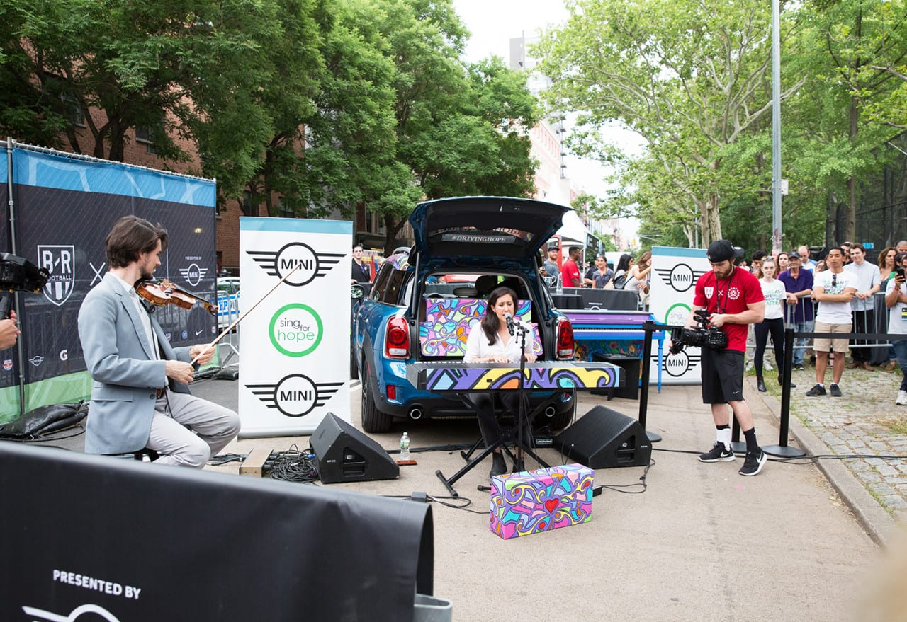 MINI Drives a Micro Mobile Tour in New York City for Local Nonprofit Sing For Hope