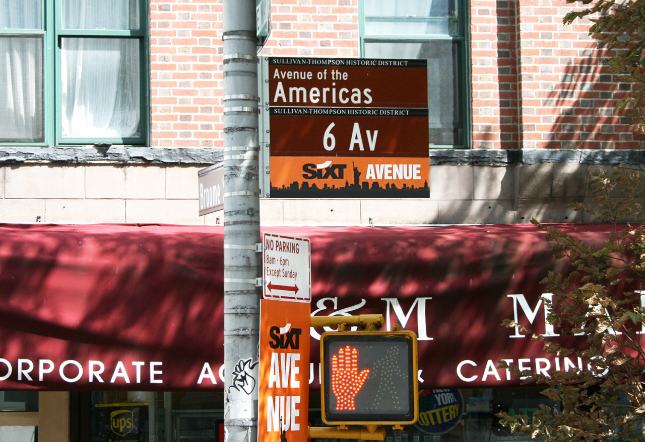 Guerrilla Marketing: Sixt Rent-a-Car Stages a Takeover of Manhattan's Sixth Avenue
