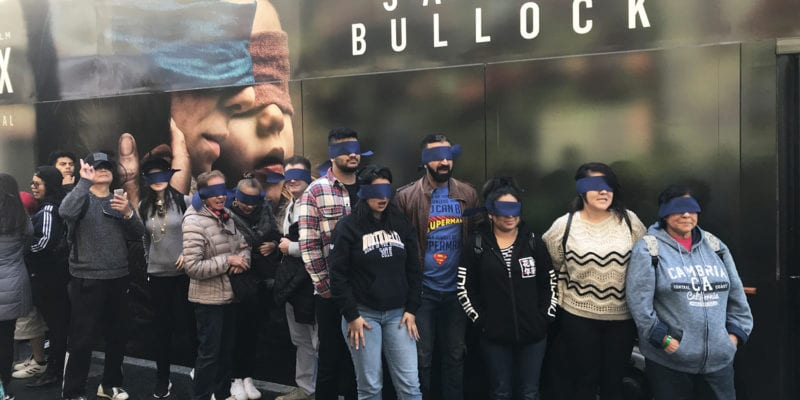 "Netflix Creates a ""Bird Box"" Experience, Recreating the Psychological Thriller for Fans"