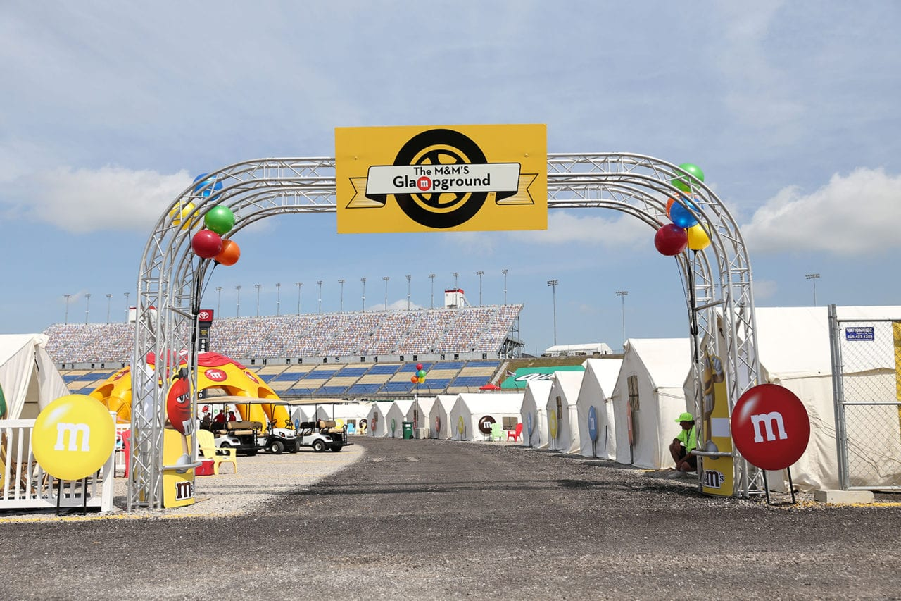 M&M's Revs Up its NASCAR Sponsorship with a Glampground for Fans
