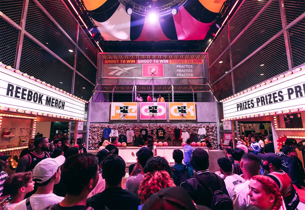 Reebok Scores Dwell-time at ComplexCon with a Carnival-Inspired Booth