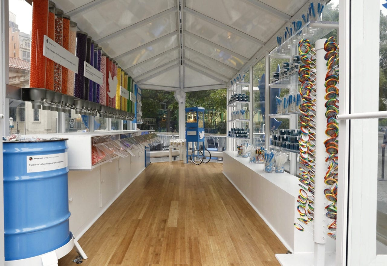 Twitter Activates a Pop-up Candy Shop at New York City's Union Square Station