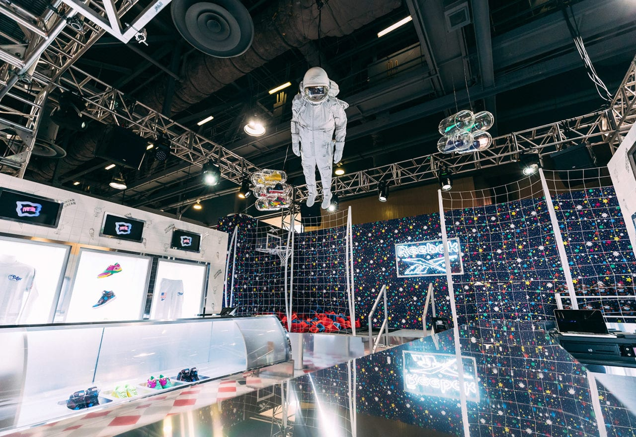 Reebok's ComplexCon Booth Sends Attendees to an Ice Cream Shop on the Moon