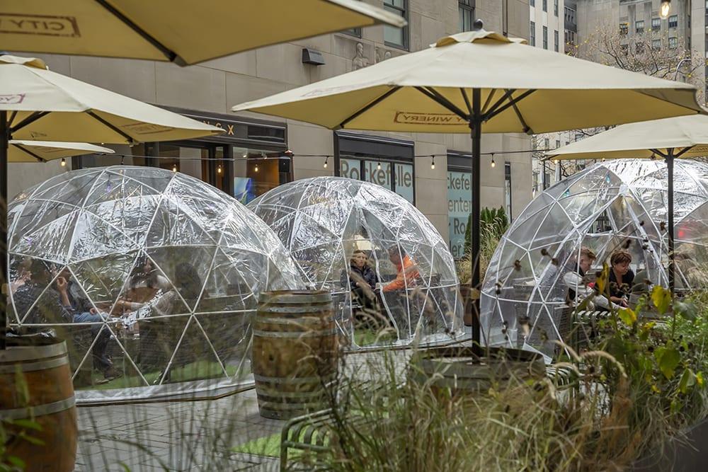 COVID-19 Restaurant Dome Event Venue