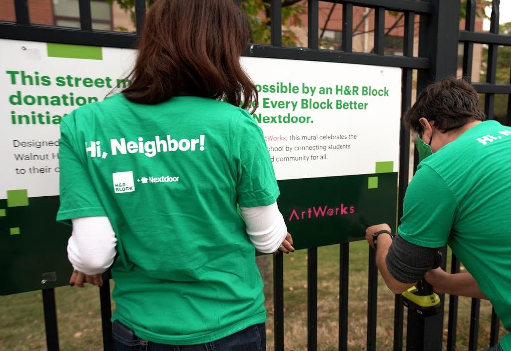 H&R Block Nextdoor Cause Marketing Volunteers