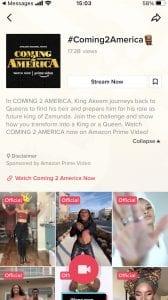 Coming 2 America TikTok Challenge