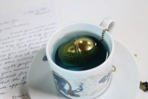 A golden tea egg with instructions HBO The Nevers