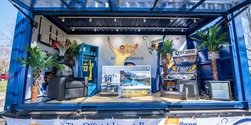 Corona's Mobile Locker Room Experience Engages Pacers Fans in Their Backyards