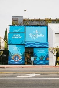 Don Julio Celebrates a Modern Cinco de Mayo pop-up storefront blue