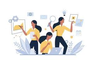 iStock_Business woman multitasking
