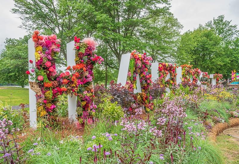 Philadelphia Flower Show 2021_Installation Activating outdoors