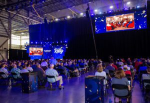 Southwest Airlines 2021 Employee Rally_crowd at presentation