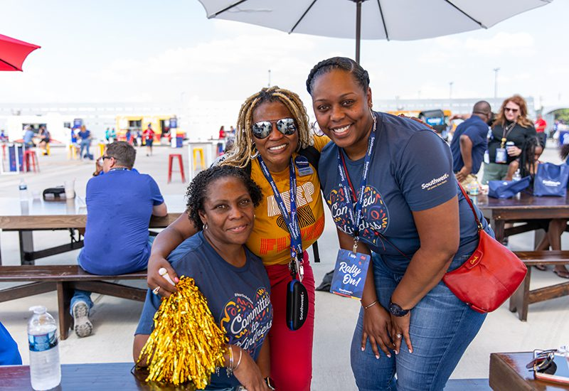 Southwest Airlines 2021 Employee Rally_Trio of employees