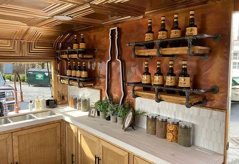 Amaro Montenegro Bar Monte 2021_inside the trailer