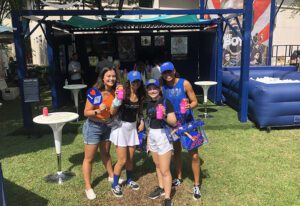Amazon Prime Pop-up Tailgate 2021_college girls