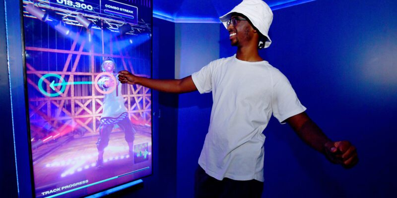 pepsi-pop-star-man interacts with screen